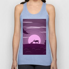 Night wild life Unisex Tank Top
