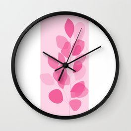 abstract leaf Drawing Wall Clock