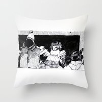 velvet underground Throw Pillows featuring Underground by T.K. Dolan