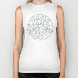 Constellations of the Northern sky - ligth blue Biker Tank