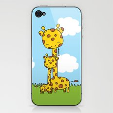 Giraffe Hugs iPhone & iPod Skin