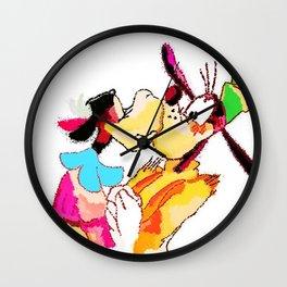 Kissing goofy Wall Clock