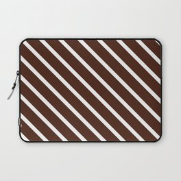 Cocoa Diagonal Stripes Laptop Sleeve