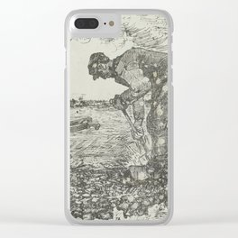 Burning Weeds The Hague, July 1883 Vincent van Gogh (1853 - 1890) Clear iPhone Case