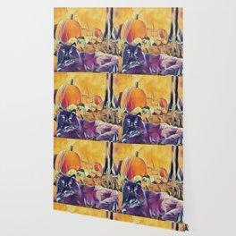 Black Cats & Pumpkins Wallpaper