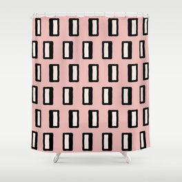 Chad Pattern Dusty Rose 2 Shower Curtain