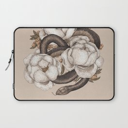 Snake and Peonies Laptop Sleeve