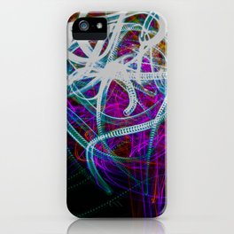 Abstract light painting iPhone Case