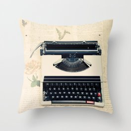 Typewriter (Retro and Vintage Still Life Photography) Throw Pillow