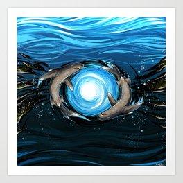 Shark Mandala Art Print