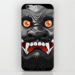 Happy Lion (Black) iPhone Skin