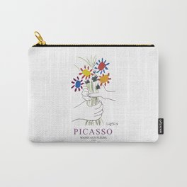 Picasso Exhibition - Mains Aus Fleurs (Hands with Flowers) 1958 Artwork Carry-All Pouch