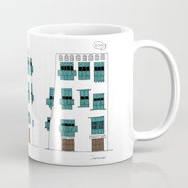 Jeddah AlBalad Nadalah Ibn Khalid Facade Turquoise Saudi Arabia Coffee Mug