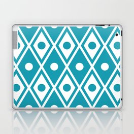 Harlequin Pattern Cerulean Blue Laptop & iPad Skin
