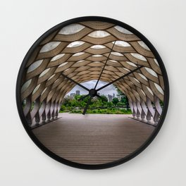 Chicago's Honeycomb in Lincoln Park Wall Clock