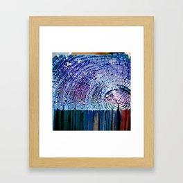 Rings in Blue Framed Art Print