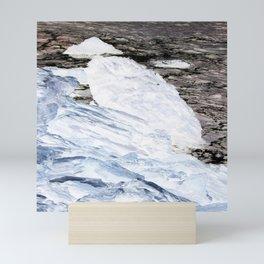Arctic Coast Snow Landscape Photograph Print Mini Art Print