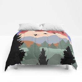 Mountain Geese Scene Comforters