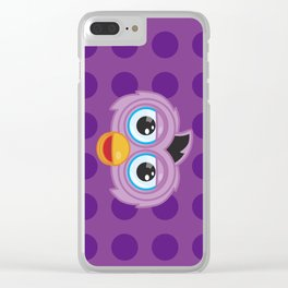Purple Furby Clear iPhone Case