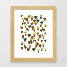 cacti & succulents Framed Art Print