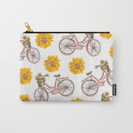 Sunflowers and Bikes! Carry-All Pouch