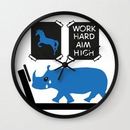 Work hard in the Gym, aim high Wall Clock