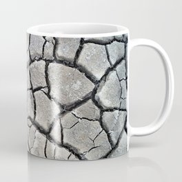 dry cracked earth natural mud pattern texture Coffee Mug