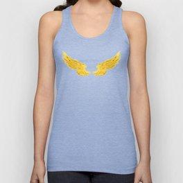 Golden Angel Wings Unisex Tank Top