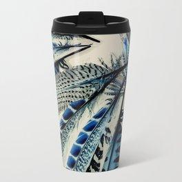 Blue wing feathers bird wings Travel Mug