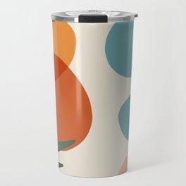 Abstract Art Beautiful summer pallette color Travel Mug