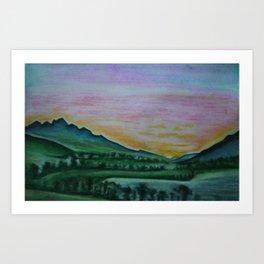Franschhoek Valley Art Print