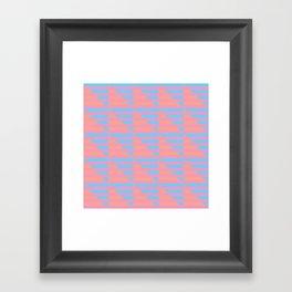 Pink Blue Peach Houndstooth /// www.pencilmeinstationery.com Framed Art Print