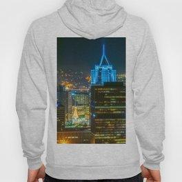 Pittsburgh Pennsylvania City Night Print Hoody