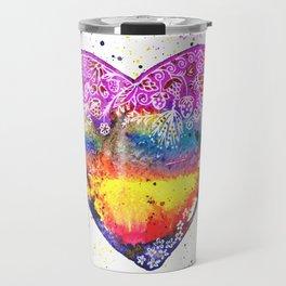 Colorful Love | White Travel Mug