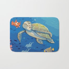 Under the Sea and Above the Coral Bath Mat