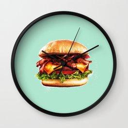 Juicy Bacon Cheeseburger Wall Clock
