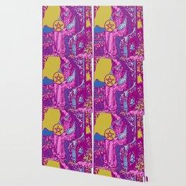 Queen Of Pentacles - A Femme Tarot Card Wallpaper