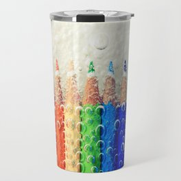 Bubble Rainbow Pencils Travel Mug