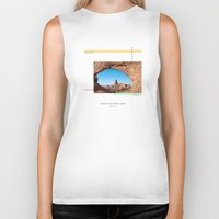 parks Biker Tanks featuring National Parks: Arches by Roadtrippers