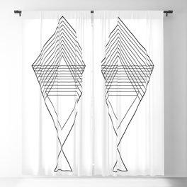 Wand - Black Blackout Curtain