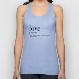 Definition of love Unisex Tank Top