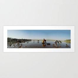 ethiopian fishing boy  Art Print