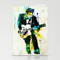 chuck Stationery Cards featuring chuck berry by manish mansinh