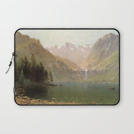 View Of Lake Tahoe Looking Across Emerald Bay 1874 By Thomas Hill | Reproduction Laptop Sleeve