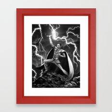Tesla: God of Thunder Framed Art Print