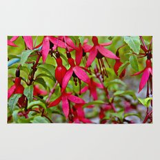 Pink Fuchsia Blossoms Rug