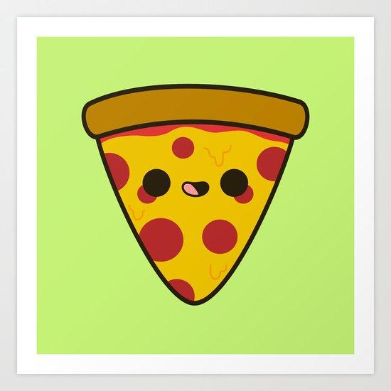 Yummy pizza Art Print
