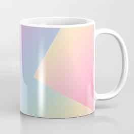 Geometric abstract pastel rainbow colors Coffee Mug