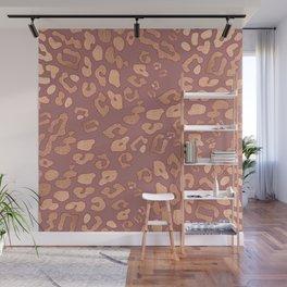 RoseGold: Leopard + Pink II Wall Mural