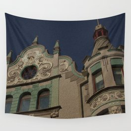 Architecture Of Tallinn Wall Tapestry